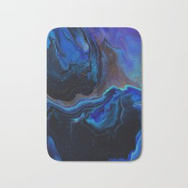 Blue Edged Galaxy Bath Mat