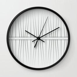 Minimalist gray stripes. Wall Clock