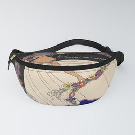 """Martha Romme Couture Design """"Floreal"""" Fanny Pack"""