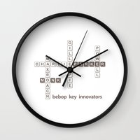 bebop Wall Clocks featuring Jazz Bebop Innovator by The Jazz Corner