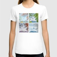 seoul T-shirts featuring Seoul Tower Seasons - Square by Zayda Barros