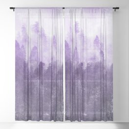 Ultra Violet Adventure Forest Sheer Curtain