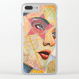 Abstract Art Female Women Portrait Painting ...Honestly Speaking Clear iPhone Case