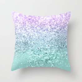 Mermaid Girls Glitter #1 #shiny #decor #art #society6 Throw Pillow