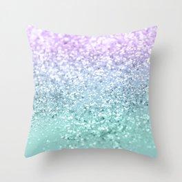 Mermaid Girls Glitter #1 #shiny #decor #art #society6 Throw Pillow