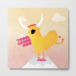 Yappy the Yodelling Yoga Yak Metal Print