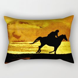 The rider on the white horse  Rectangular Pillow