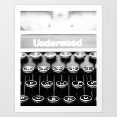 Underwood Art Print