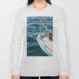 BOAT - WATER - SEA - PHOTOGRAPHY Long Sleeve T-shirt