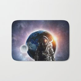 Galaxy astronaut Bath Mat