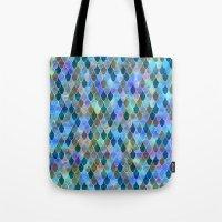 mermaid Tote Bags featuring Mermaid by Schatzi Brown