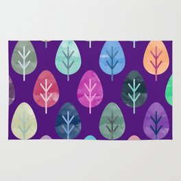 Watercolor Forest Pattern II Rug