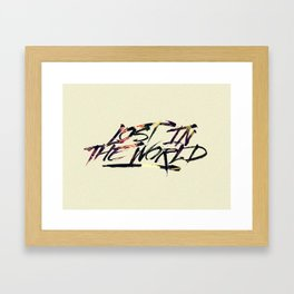 Lost in the world Framed Art Print