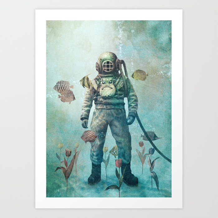 Deep Sea Garden  Art Print