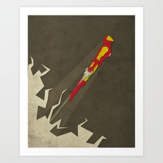 Paper Heroes - ironman Art Print