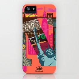 Mews in NewYork (Typography) iPhone Case