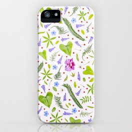 Leaves and flowers (8) iPhone Case