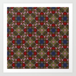 Glass pattern Art Print