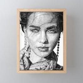 Wild-Hearted Woman Drawing Framed Mini Art Print