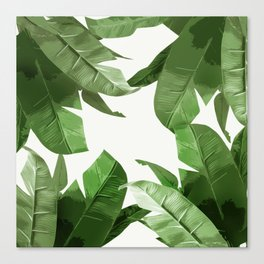 Tropical Palm Print Treetop Greenery Canvas Print