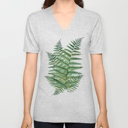 Among the Fern in the Forest Unisex V-Neck