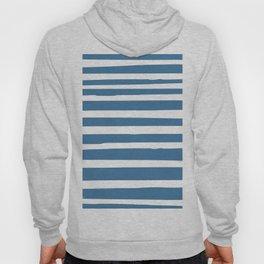 Stripes Nautical Landscape Modern Beach Blue Hoody