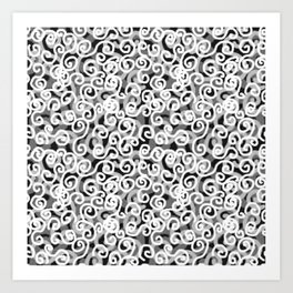 Dark Swirls Art Print