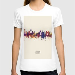 Lisbon Portugal Skyline T-shirt