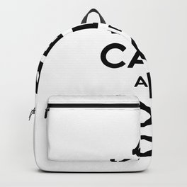keep calm yoga Backpack