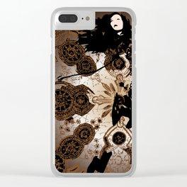 Earthy Fashion Clear iPhone Case