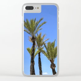 Paradise Palm Tress Clear iPhone Case