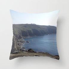 Along The Cliff Edge! Throw Pillow