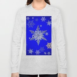 """MORE BLUE SNOW"" BLUE WINTER ART DESIGN Long Sleeve T-shirt"