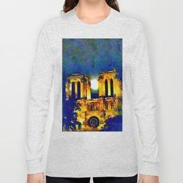 Notre Dame de Paris Full Moon Long Sleeve T-shirt