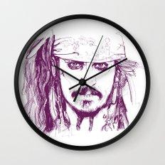 Captain Jack - Pirates of the Caribbean Wall Clock