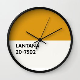 Lantana Chip Wall Clock