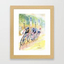 Colorful Bike Race Art Framed Art Print