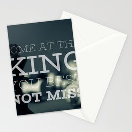 Come At The King, You Best Not Miss Stationery Cards