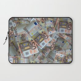 Piles of 50 Euro notes Laptop Sleeve
