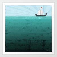 sail Art Prints featuring Sail by Kakel