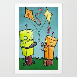 Robot - On A String Art Print