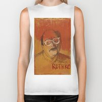rothko Biker Tanks featuring 50 Artists: Mark Rothko by Chad Beroth