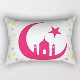 Mosque dome and minaret silhouette Rectangular Pillow