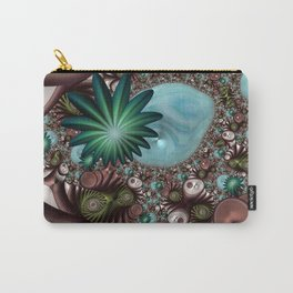 Tropical Trails Fractal Carry-All Pouch