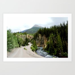 Crossing the Animas River to the Mayflower Mine Art Print