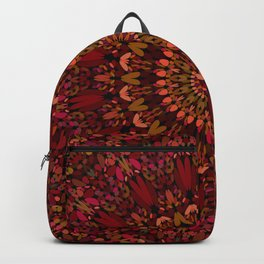 Bohemian Geometric Flower Mandala Backpack