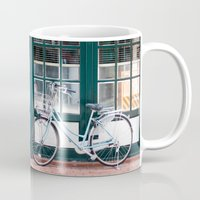 bicycles Mugs featuring Bicycles by DoryTuohey