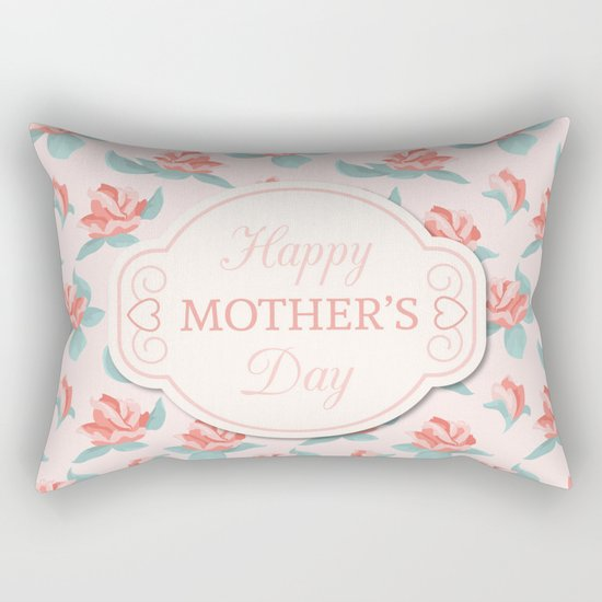 Happy Mother's Day Floral pattern Rectangular Pillow