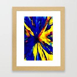 blue yellow Framed Art Print