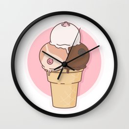 Boobs Icecream Wall Clock